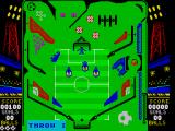 Soccer Pinball ZX Spectrum Getting the ball in the blue bit results in a throw in