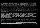 Adventureland Atari 8-bit Introduction screen