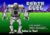 Death Duel Genesis Second title screen