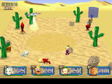 Poy Poy 2 PlayStation The desert stage. You have to stay away from the quicksand...