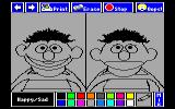 The Sesame Street Crayon: Opposites Attract DOS Happy/Sad is not colored (MCGA 256)