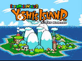 Super Mario World 2: Yoshi's Island SNES Title screen