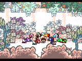 Super Mario World 2: Yoshi's Island SNES The Yoshis consult each other