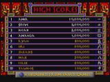 Supreme Warrior 3DO High scores