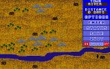 Bounty Hunter Atari ST The travel map, here you select which city you want to visit