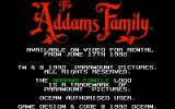 The Addams Family Atari ST The title screen