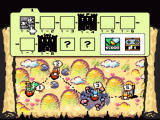 Super Mario World 2: Yoshi's Island SNES World Map and options screen