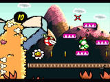 Super Mario World 2: Yoshi's Island SNES Aiming with the egg
