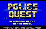 Police Quest: In Pursuit of the Death Angel Atari ST The title screen