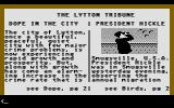 Police Quest: In Pursuit of the Death Angel Atari ST Reading the newspaper