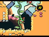Super Mario World 2: Yoshi's Island SNES Climbing up the plants