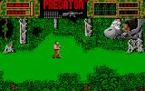 Predator Atari ST An enemy takes cover in a crashed helicopter