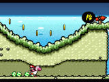 Super Mario World 2: Yoshi's Island SNES Dig holes to go through hills
