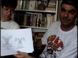 "Roko-Loko no Castelo do Ratozinger Remix Windows <moby developer=""Marcio Baraldi"">Marcio Baraldi</moby>, character designer and artist, showing some more sketches in the game's making-of video."