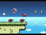 Super Mario World 2: Yoshi's Island SNES Yoshi turns into a helicopter!
