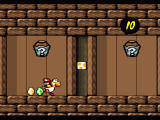 Super Mario World 2: Yoshi's Island SNES You can throw eggs on those buckets to get some goodies