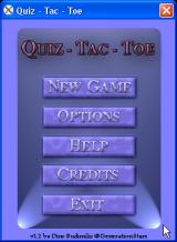 Quiz - Tac - Toe Windows Main menu