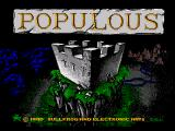 Populous Genesis Title screen