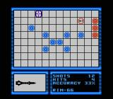 Battleship NES The sunk Destroyer on the grid