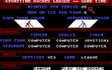 Superstar Ice Hockey DOS Pre-game - you can tweak period length, offsides and other settings (EGA).