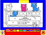Fisher-Price Learning in Toyland Windows Color the picture as instructed