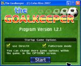 The Goalkeeper Windows Startup screen
