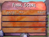 The Flintstones: Bedrock Bowling Windows The scoreboard