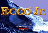 Ecco Jr. Genesis Title screen