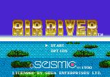 Air Diver Genesis Title screen