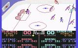 Superstar Ice Hockey Commodore 64 Edmonton scored.