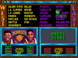 NBA Jam SNES Choosing your team