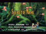 Secret of Mana SNES Title screen