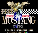 Fire Mustang Genesis Title screen