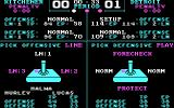 Superstar Ice Hockey DOS During the game you can choose lines and strategies (CGA).