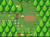Secret of Mana SNES Fighting some nasty things among the bushes