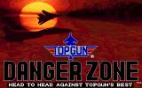 Top Gun: Danger Zone DOS Title screen