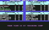Superstar Ice Hockey Commodore 64 Improving the team by sending them to training camp.