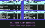 Superstar Ice Hockey Commodore 64 Training camp is complete.