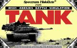 Tank: The M1A1 Abrams Battle Tank Simulation DOS Title screen (1991 updated version)