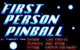 1st Person Pinball DOS Title Screen