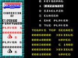 Xevious ZX Spectrum Main menu