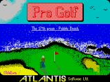 Pro Golf ZX Spectrum Loading screen
