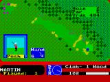 Pro Golf ZX Spectrum Playing my first shot.