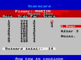 Pro Golf ZX Spectrum One bogey and two pars from the first three holes