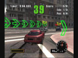 Burnout GameCube Racing through City Streets