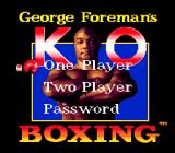 George Foreman's KO Boxing Genesis Main game screen
