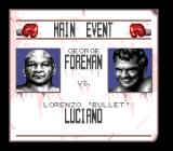 George Foreman's KO Boxing Genesis Match-up screen