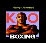 George Foreman's KO Boxing NES Title screen