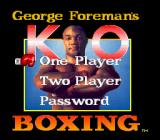 George Foreman's KO Boxing SNES Main game screen