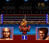 George Foreman's KO Boxing SNES George receives a punch to the face.